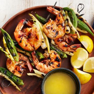 Shrimp and Okra Kebabs