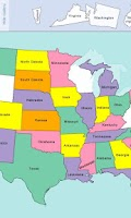 Screenshot of USA Map Puzzle
