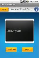 Screenshot of Flashcard to learn korean