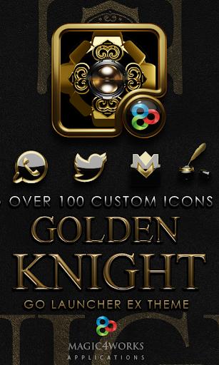 GO Launcher Theme Golden Knigh