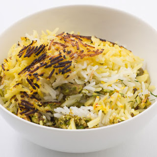 Polow (Persian Rice with Pistachios and Dill)