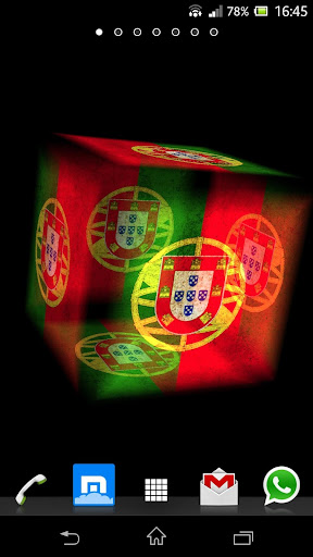 3D Portugal Cube Flag LWP