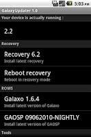 Screenshot of GalaxyUpdater