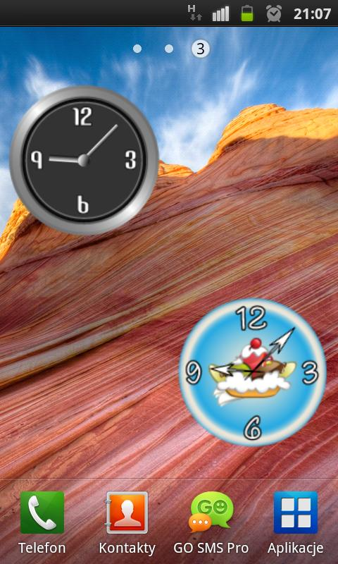 Classic Metal Clock - screenshot