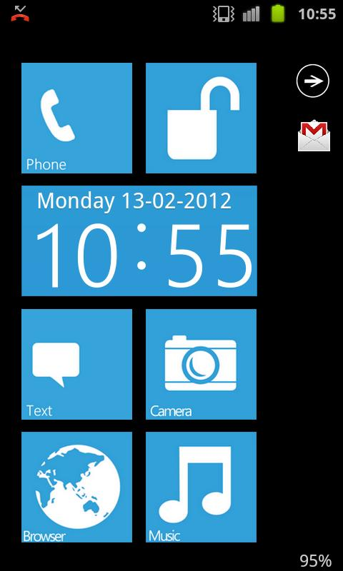 Metro WP7 GO Locker HD - screenshot