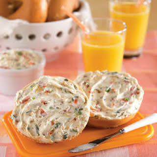 Hannah's Bagels With Veggie Cream Cheese.