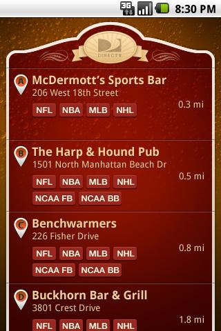Sports Bar Finder - screenshot