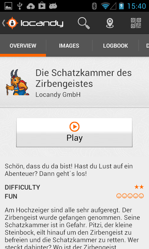 Locandy- screenshot