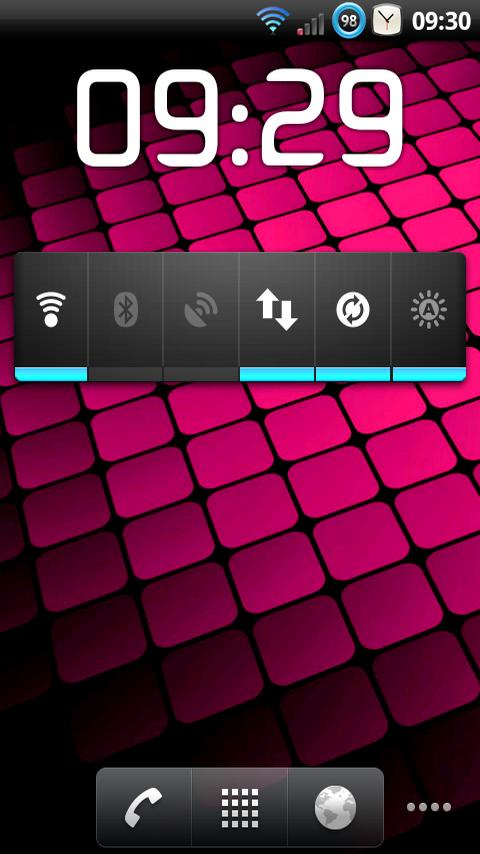 ClockWidget- screenshot