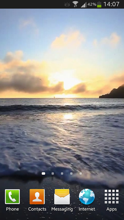 Ocean Waves at Sunset Live HD- screenshot