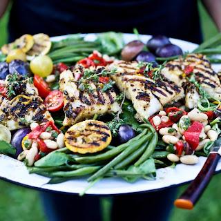 Grilled Fish Nicoise Salad