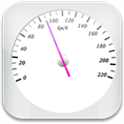 GPS Speedometer: white version icon
