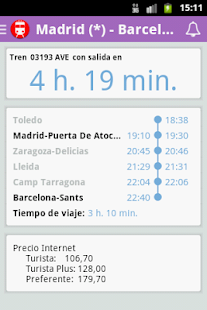 Horarios de tren- screenshot thumbnail
