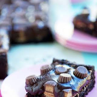 Chocolate & Peanut Butter Lover's Brownies.