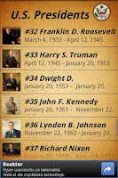 Screenshot of US Presidents