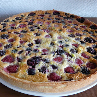 Almond- Berry Cream Tart