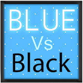 Pretty Blue Vs Black Keyboard