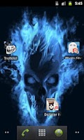 Screenshot of Blu Flame Skull Live Wallpaper