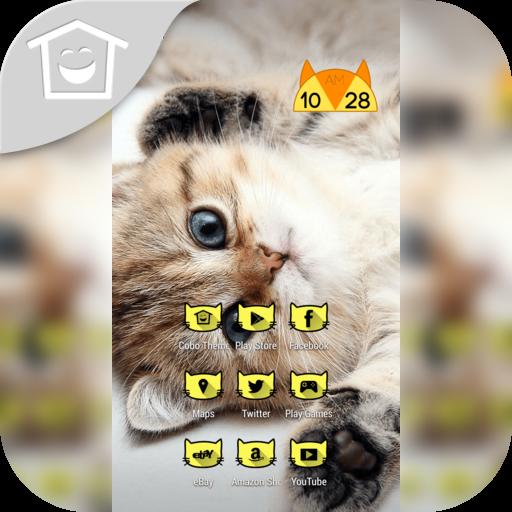 頑皮的小貓貓喵主題 LOGO-APP點子