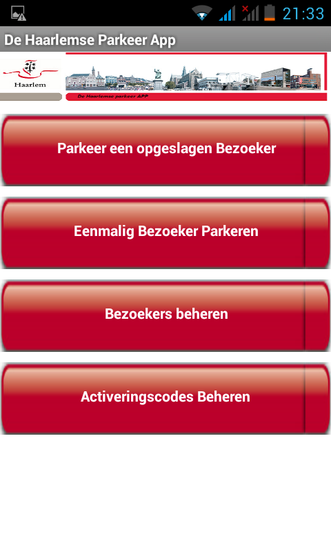 Haarlem Parkeer APP - screenshot