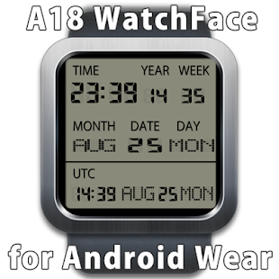 A18 WatchFace for Android Wear - náhled