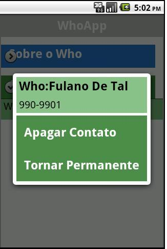 WhoApp- screenshot