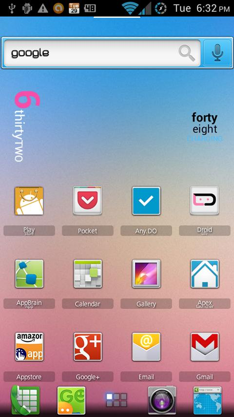 ADW Theme Blurred Nuevo- screenshot