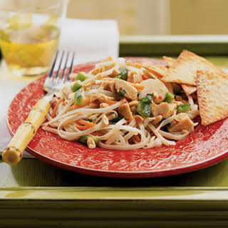 Asian Chicken, Noodle, and Vegetable Salad.