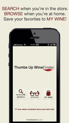 Thumbs Up WineFinder Wine App