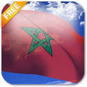 3D Morocco Flag icon