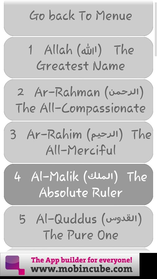 Easy Islam Salah 99 names,Vids - screenshot