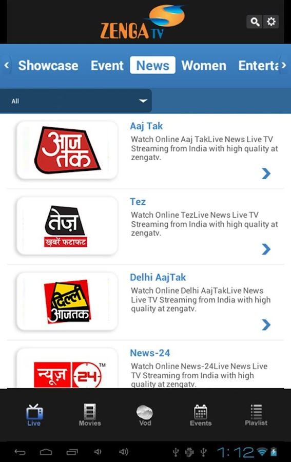 ZengaTv - Mobile TV,Live TV - screenshot