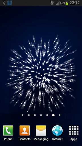 Android fireworks live wallpaper
