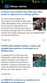 UN News Reader APK screenshot thumbnail 7