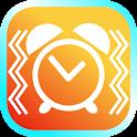 Vibration alarm clock icon