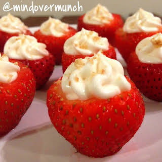 Cheesecake Stuffed Strawberries .