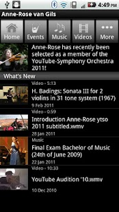 Anne-Rose van Gils, violinist - screenshot thumbnail