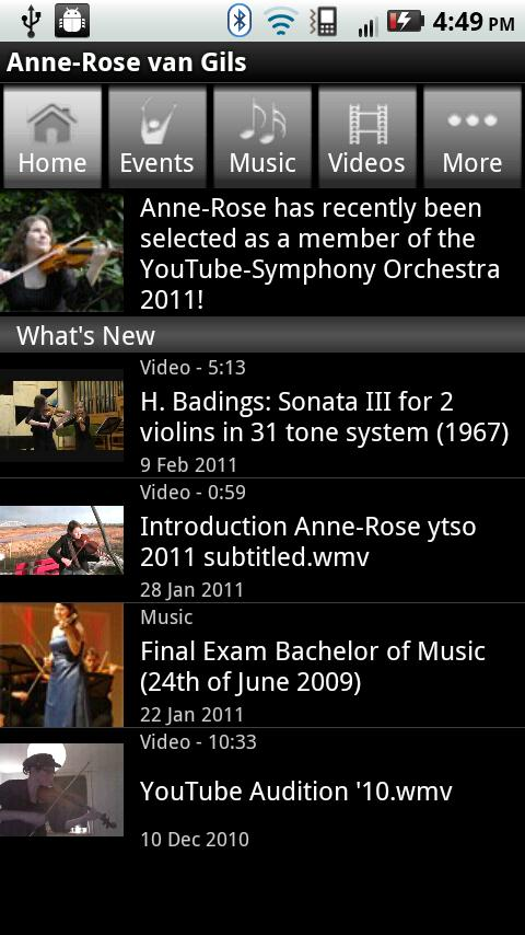 Anne-Rose van Gils, violinist - screenshot