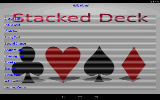 【免費娛樂App】Stacked Deck-APP點子
