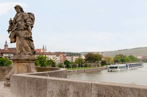 AmaBella-exterior-statue - Discover Europe's enchanting cities and villages aboard the luxury river cruise ship AmaBella.