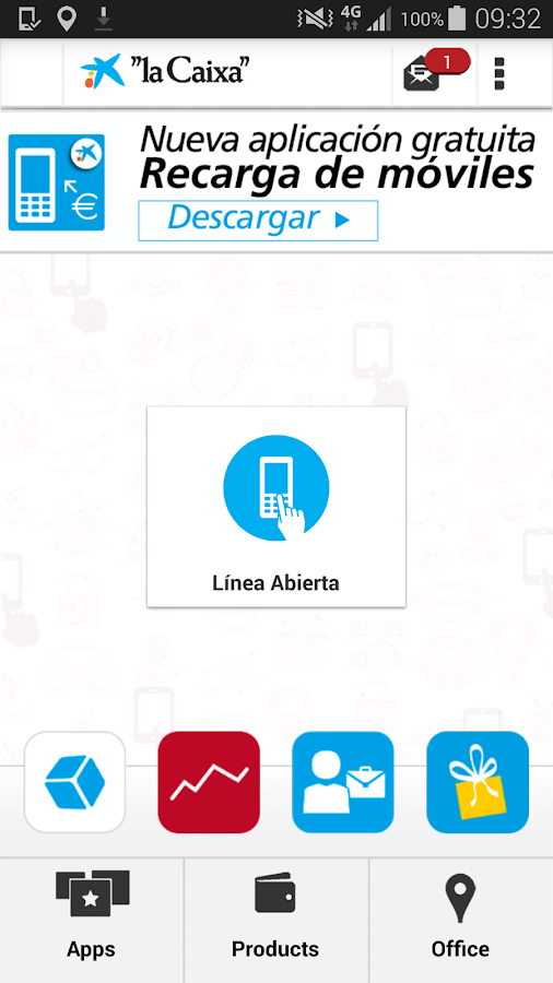 """la Caixa""- screenshot"