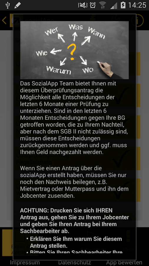 sozialApp – Screenshot