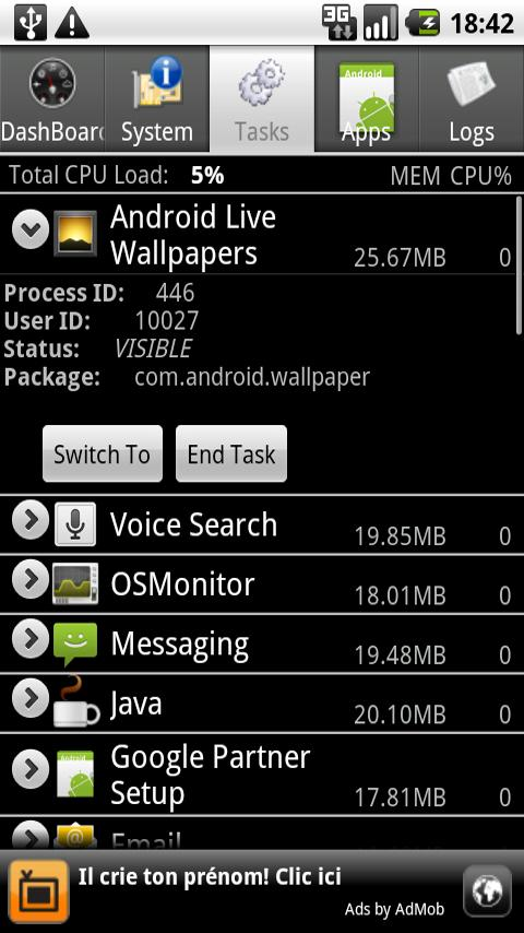 Android System Info - screenshot