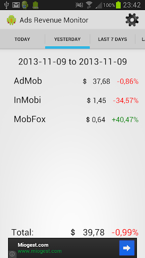 Ads Revenue Monitor