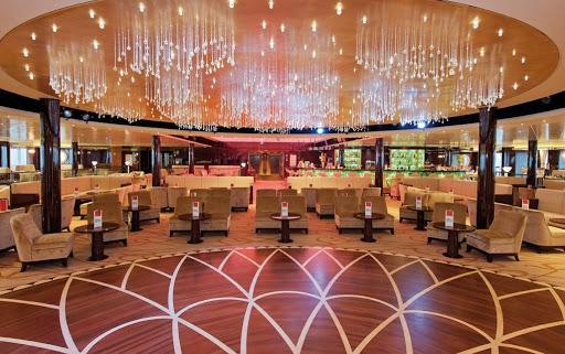 Costa-neoRomantica-Piazza-Italia - The dance floor at Grand Bar Piazza Italia, on deck 8 of Costa neoRomantica.