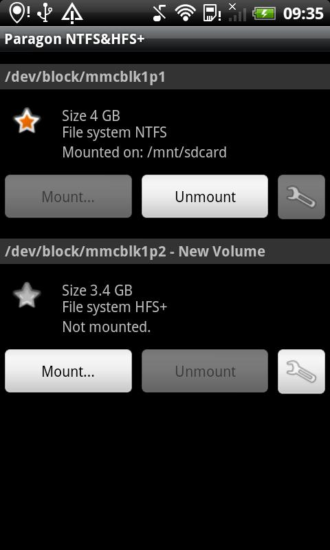 Paragon exFAT, NTFS & HFS+- screenshot