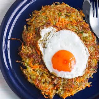 Potato And Carrot Rosti.