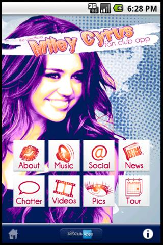 Miley Cyrus Fanclub unofficial - screenshot