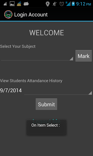 Student Attendance Form