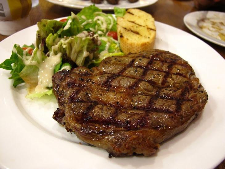 Rosemary Rubbed Rib-Eye Steak Recipe
